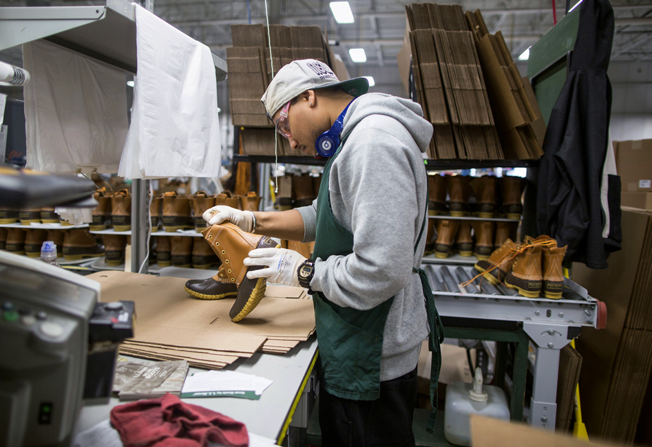 Operations Inside The L.L. Bean Apparel Manufacturing Facility