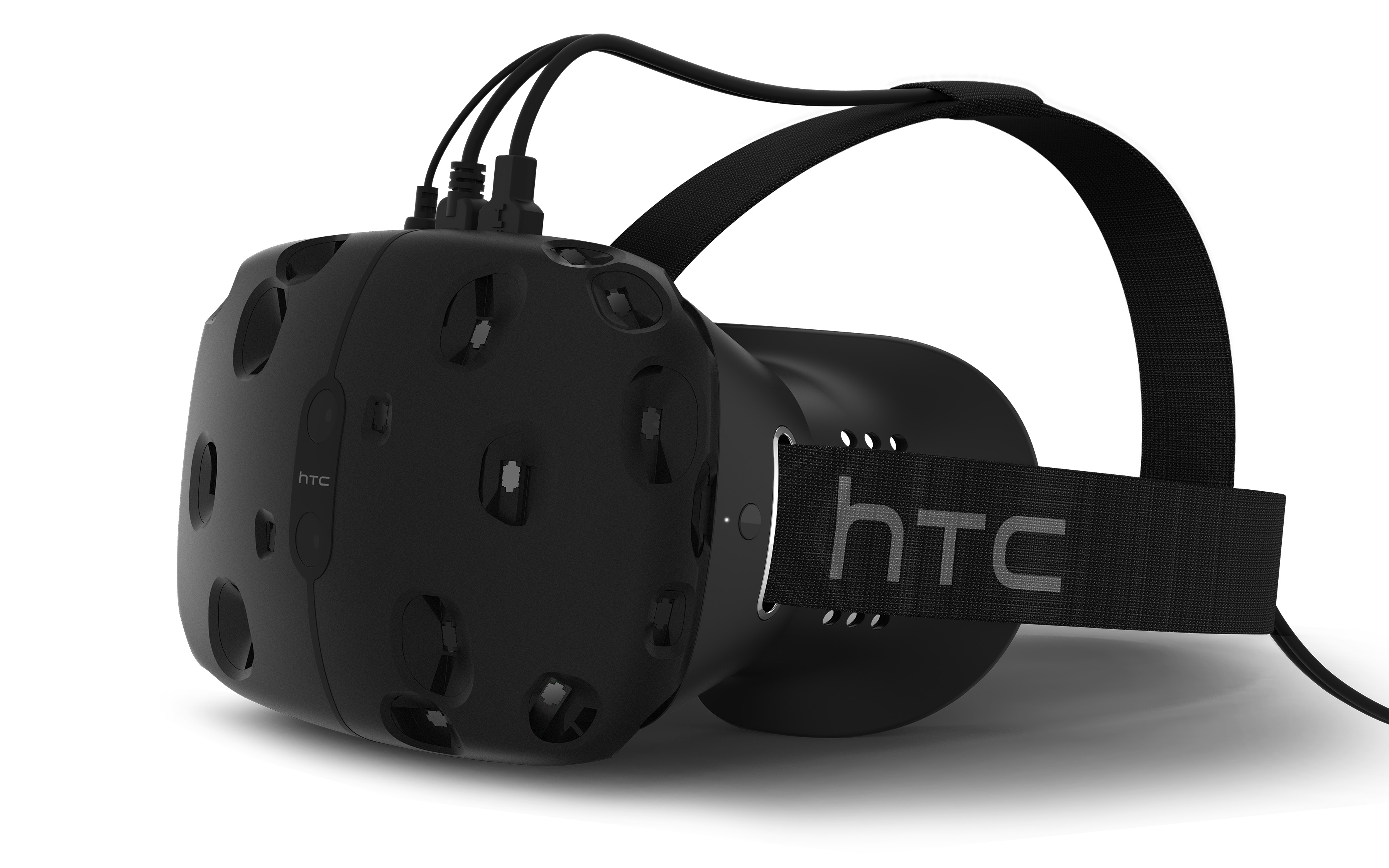 The HTC Vive VR prototype head-mounted display