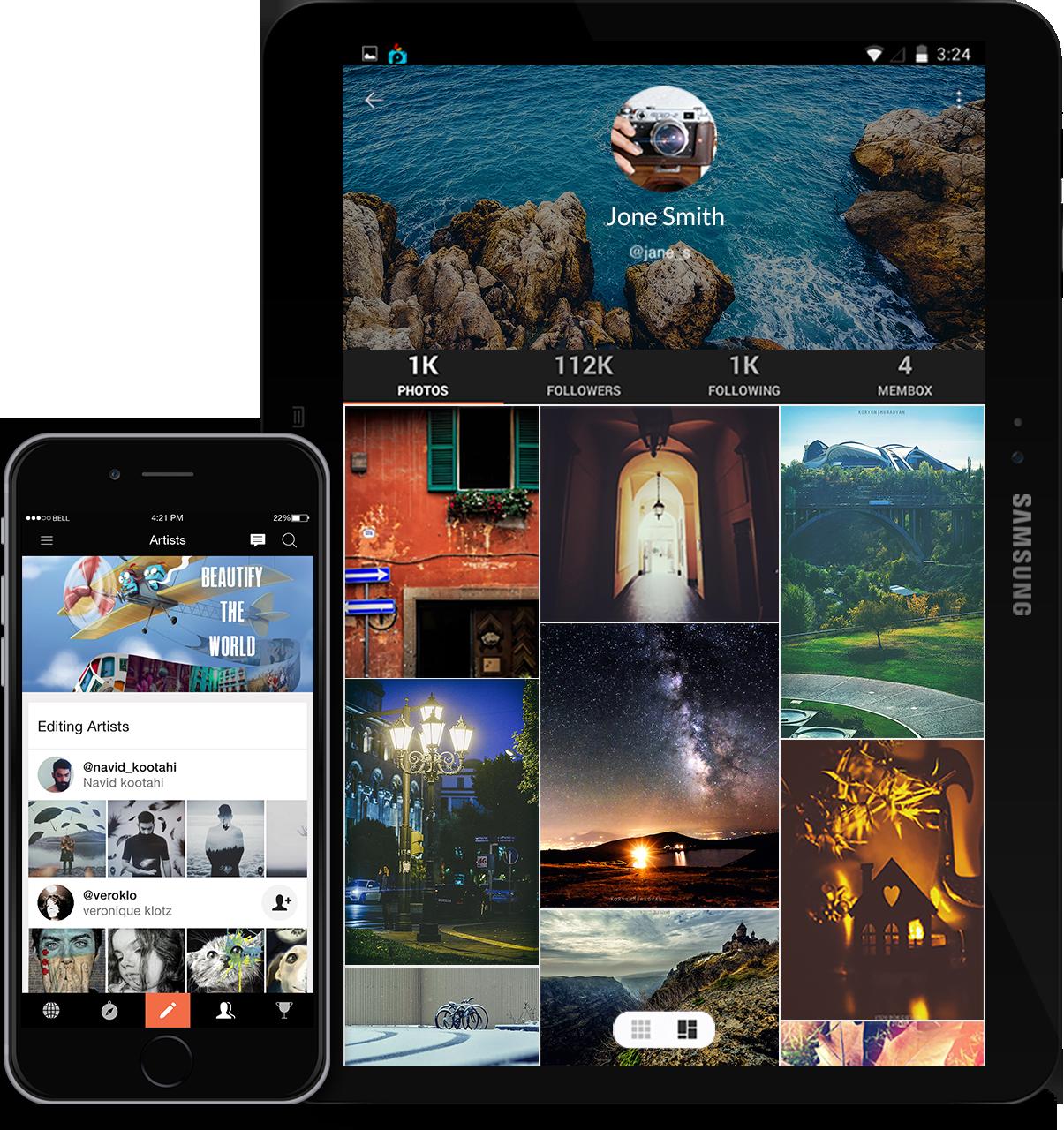 Picsart image editing mobile app