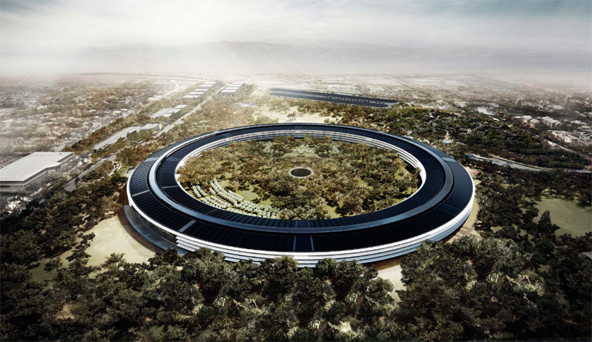 A mock-up of Apple's new headquarters