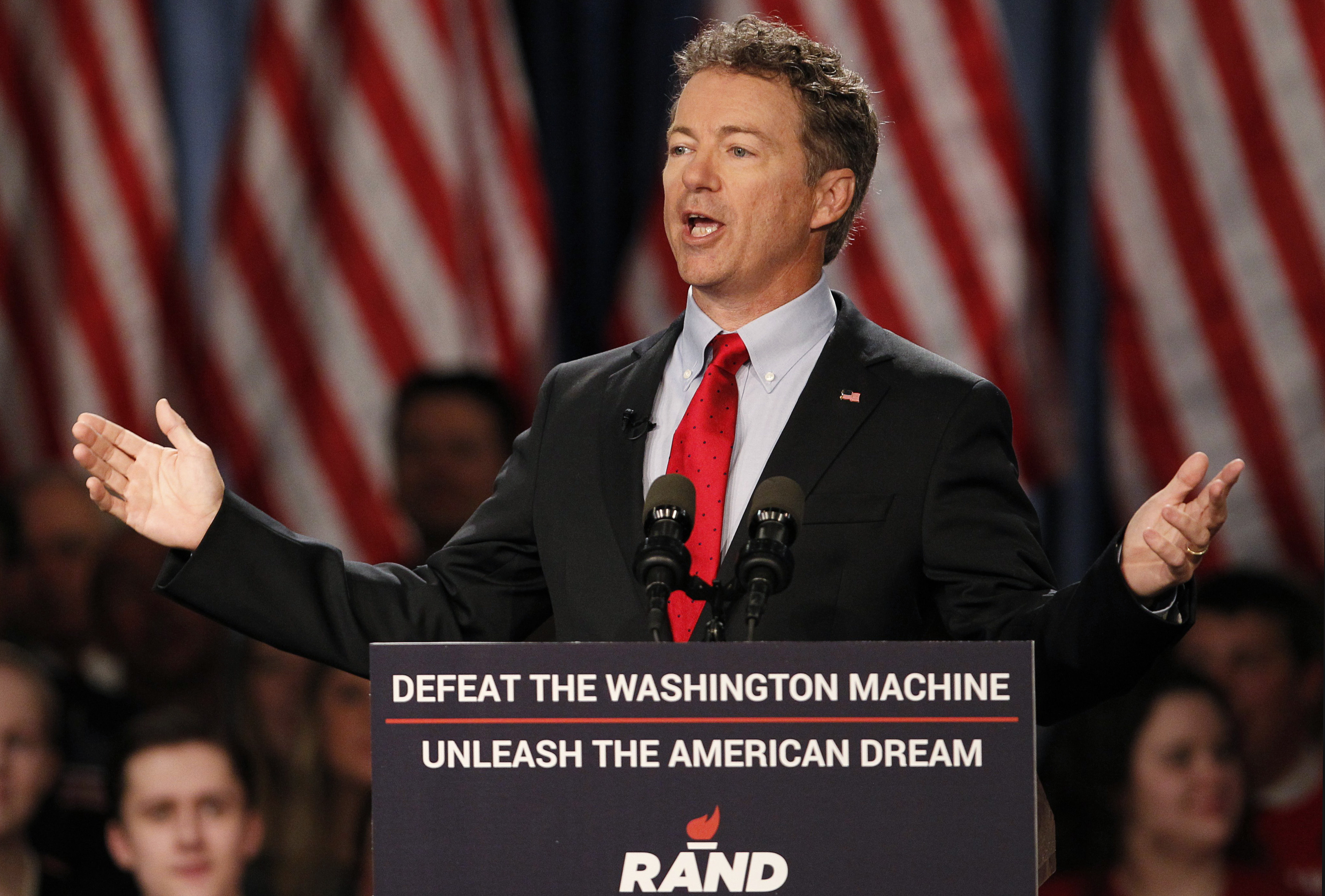 U.S. Senator Paul formally announces his candidacy for president during an event in Louisville