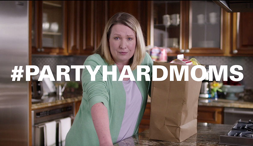 One of the cray moms in Hefty's new ads.