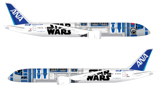 The Star Wars themed jet.