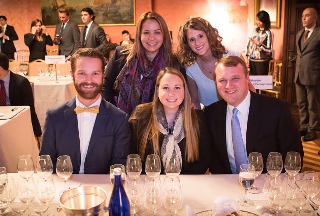 UCLA's wine drinking champions: Bottom row, left to right: Michael Peck, Brooke Matthias, Rex White. Top row, left to right: Meredith Roman, Margot Bloch