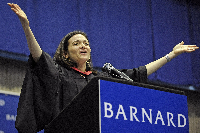 Facebook COO Sheryl Sandberg Speaks At Barnard College Commencement