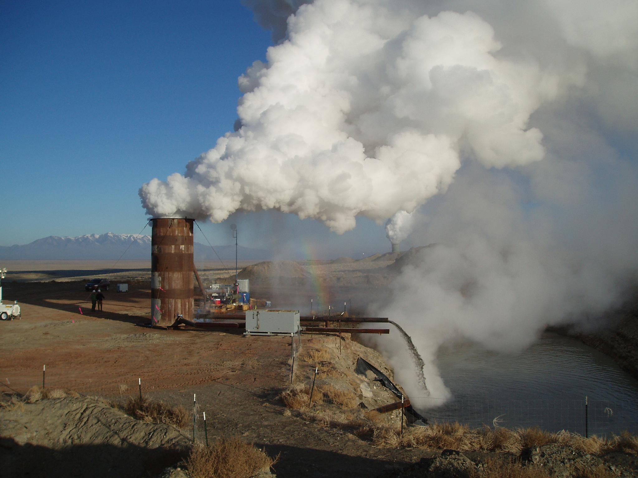 Blue Mountain Geothermal Power Plant in Humboldt County, Nevada.