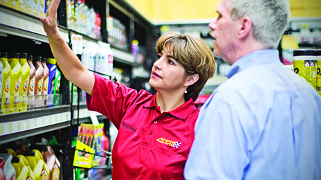 Advance Auto Parts Team Members serving customers.