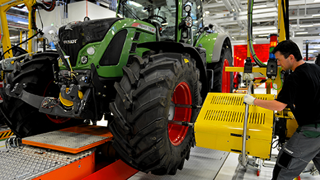 AGCO's Fendt tractor assembly facility in Marktoberdorf, Germany, is one of the world's most modern, efficient and flexible manufacturing sites.