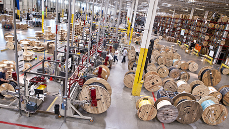 Anixter's largest warehouse facility in Alsip, Illinois.