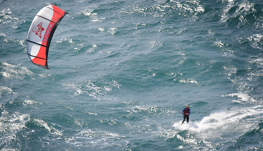 Branson kite-surf record