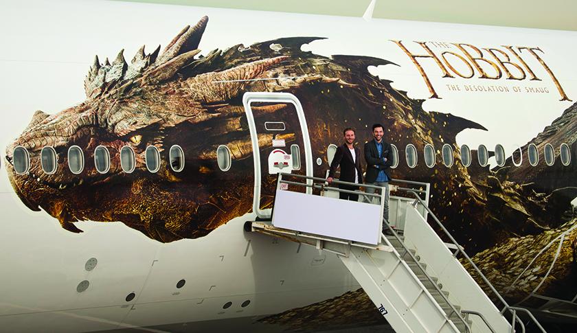 Air New Zealand's Hobbit-themed plane.