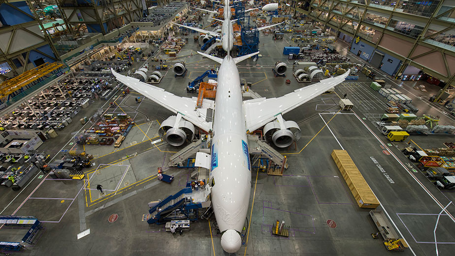 The Boeing 787 factory in Everett, Washington.