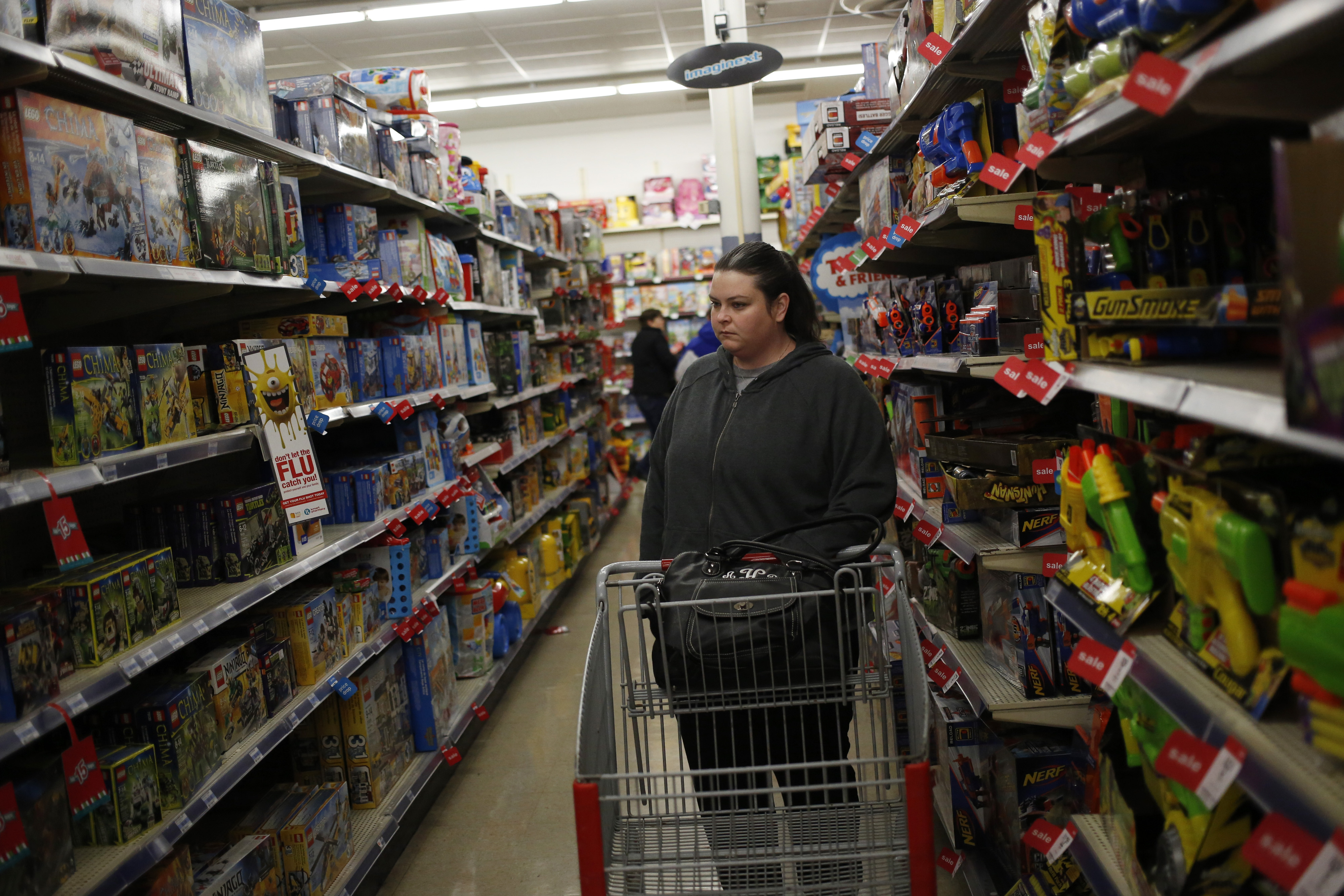 Shoppers Inside A Kmart Store Ahead Of Black Friday Sales