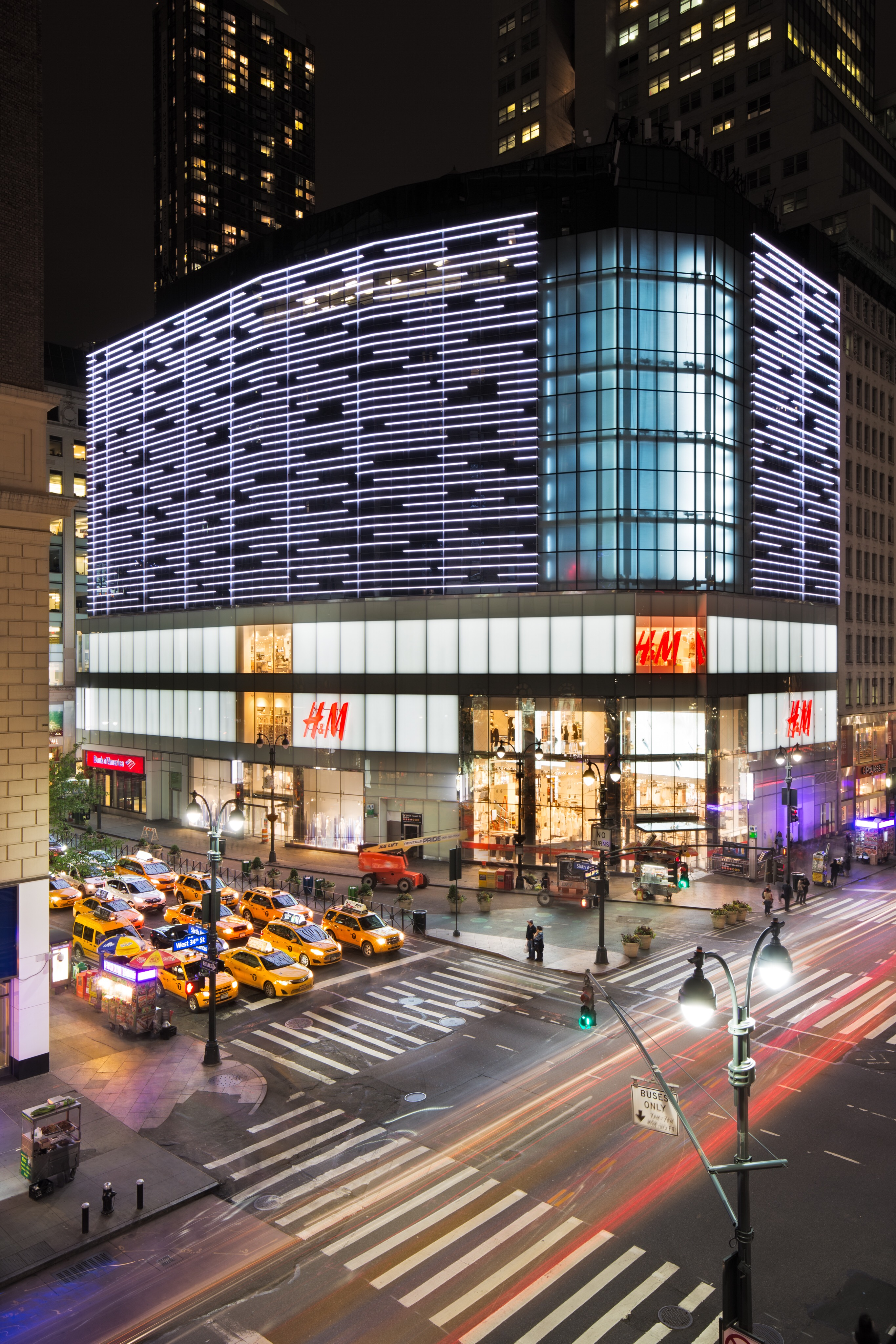 H&M at it's new Herald Square flagship location in New York.