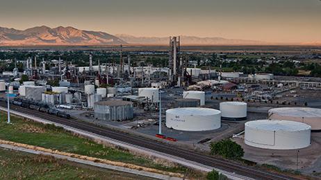Woods Cross Refinery in West Bountiful, Utah.
