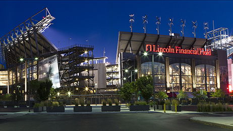 Lincoln Financial Field in Philadelphia, home to the Philadelphia Eagles.