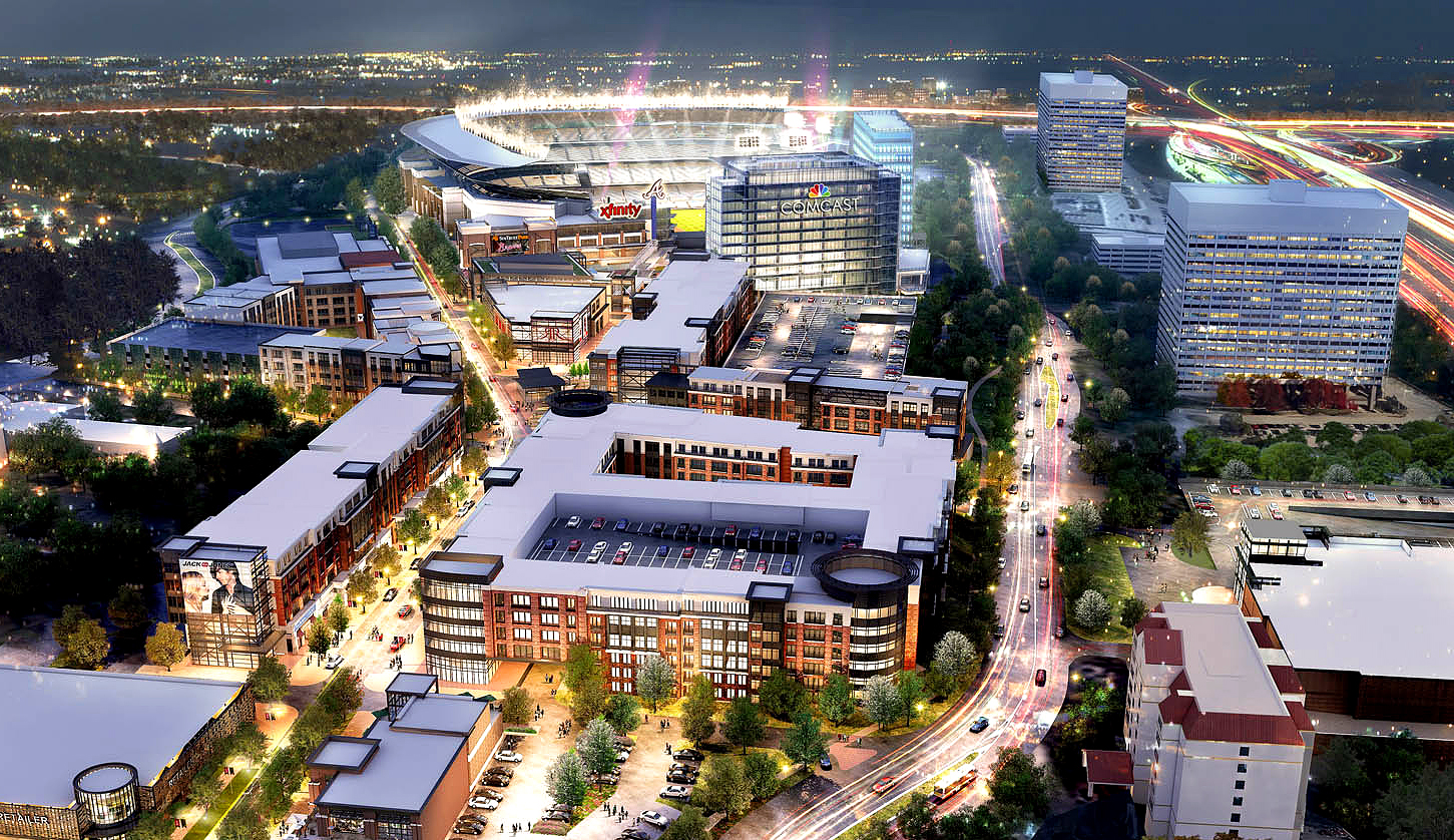 Populous's next project is the new Braves' stadium complex with offices, an Omni hotel, and apartments built in.