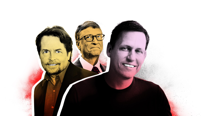 Michael J. Fox, Bill Gates and Peter Thiel