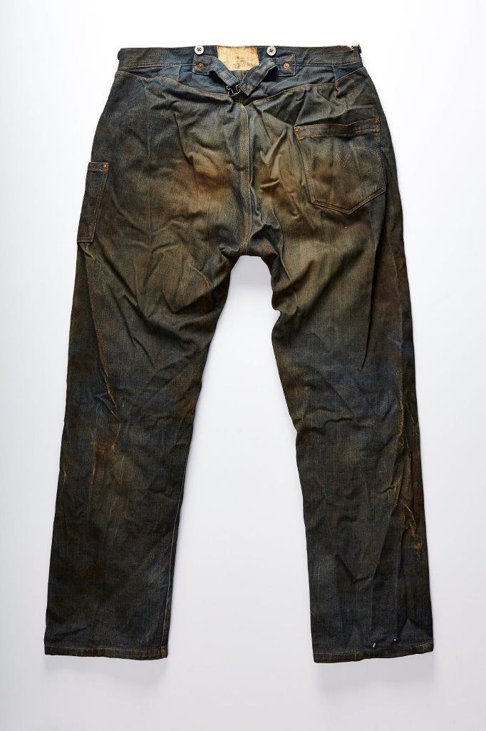 really old levi's jeans back