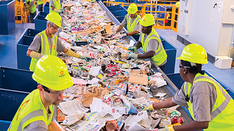 In 2014, Republic Services collected nearly five million tons of recyclables. With 66 recycling centers nationwide, recycling is a core component of Republic's business.