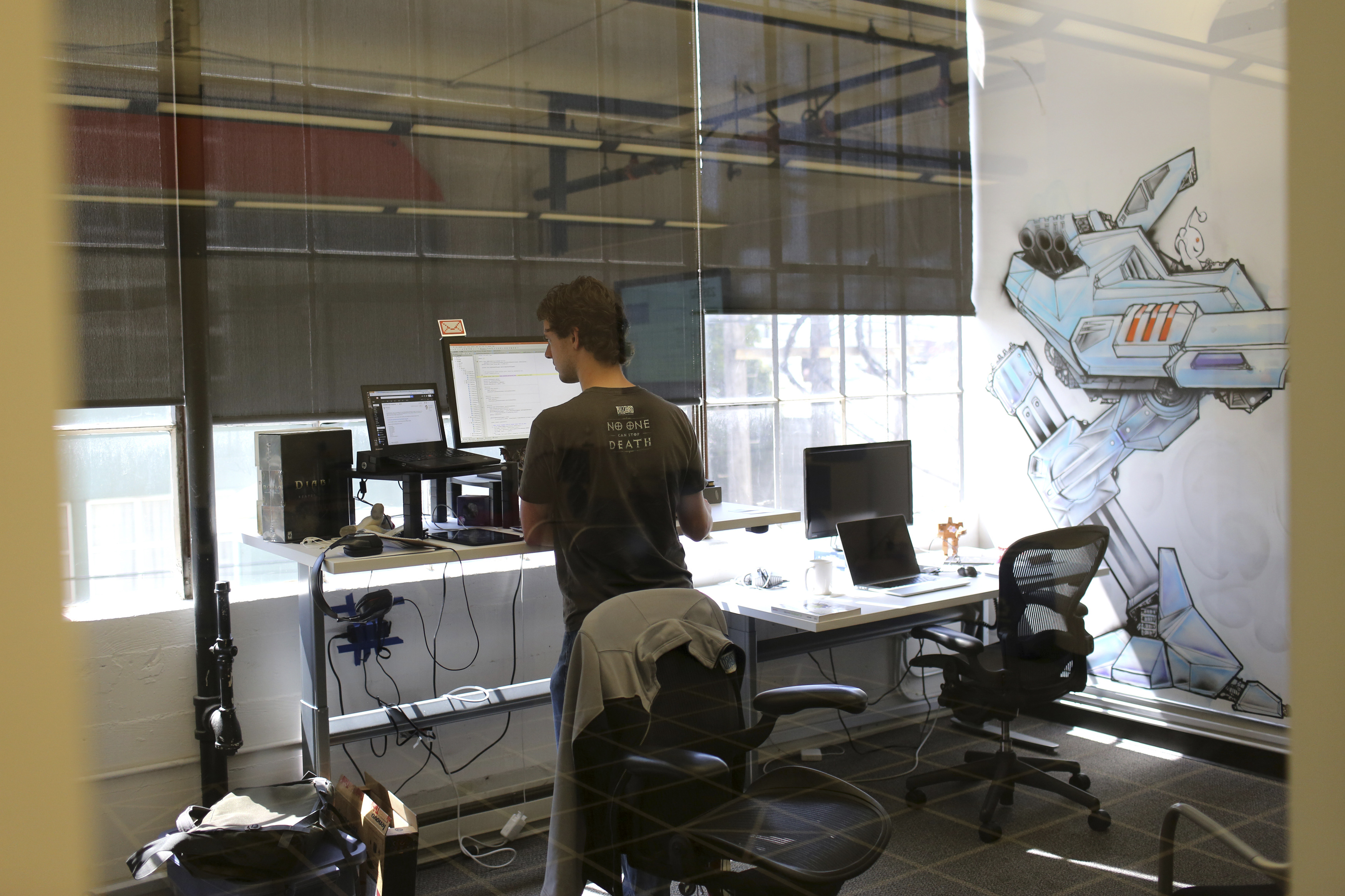 Reddit programmer Keith Mitchell works in his office at the company's headquarters in San Francisco