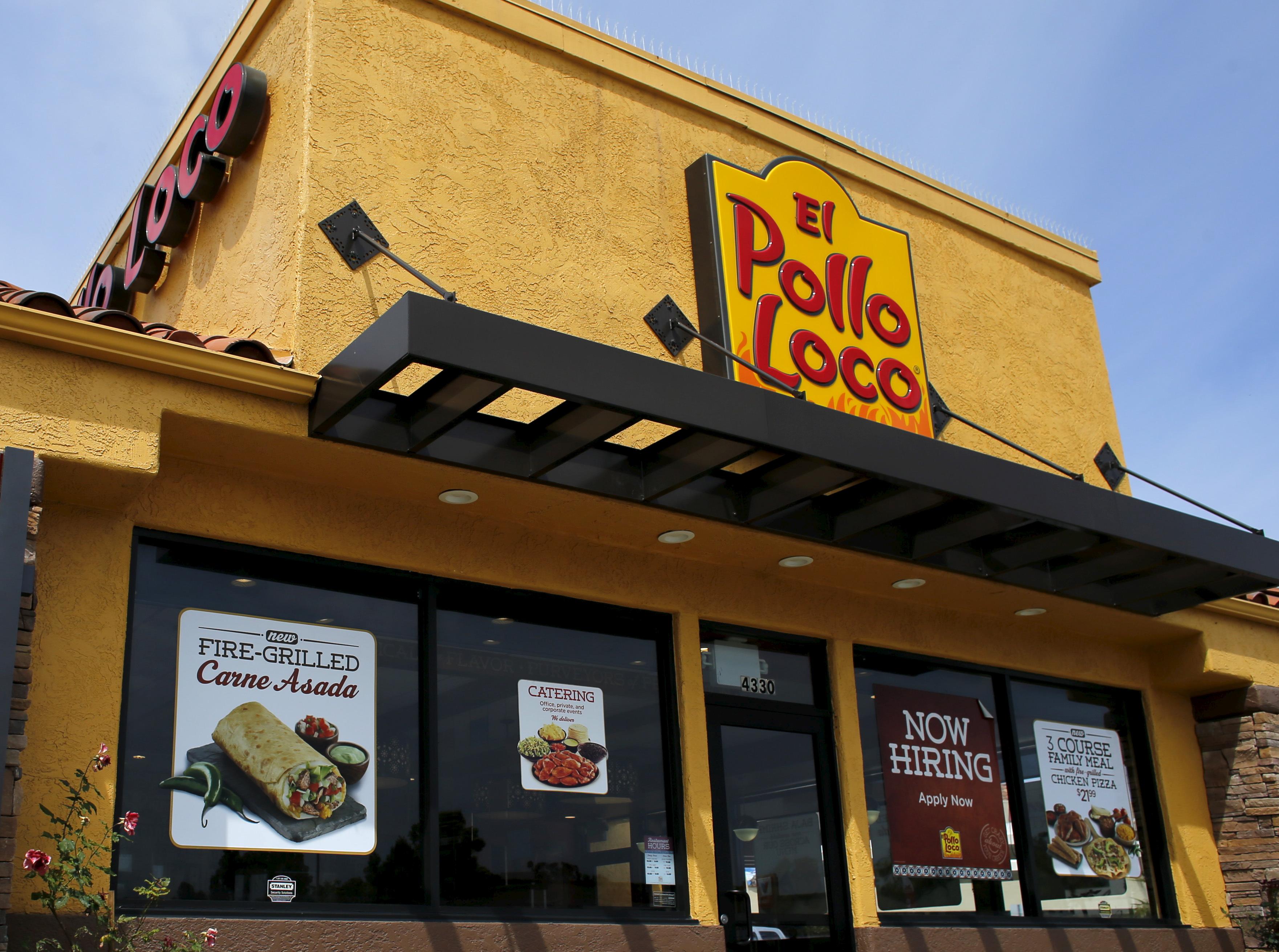 An El Pollo Loco restaurant is shown in San Diego, California