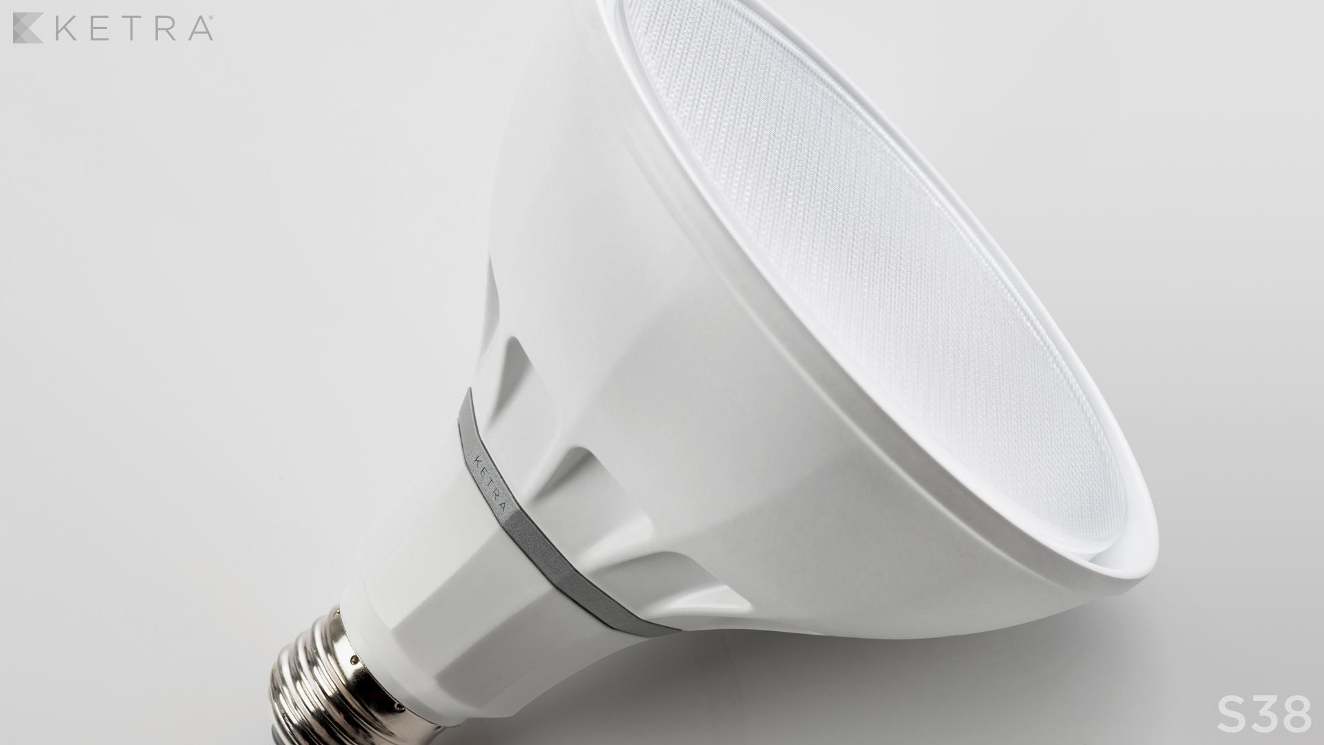 A Ketra Par30 light bulb.