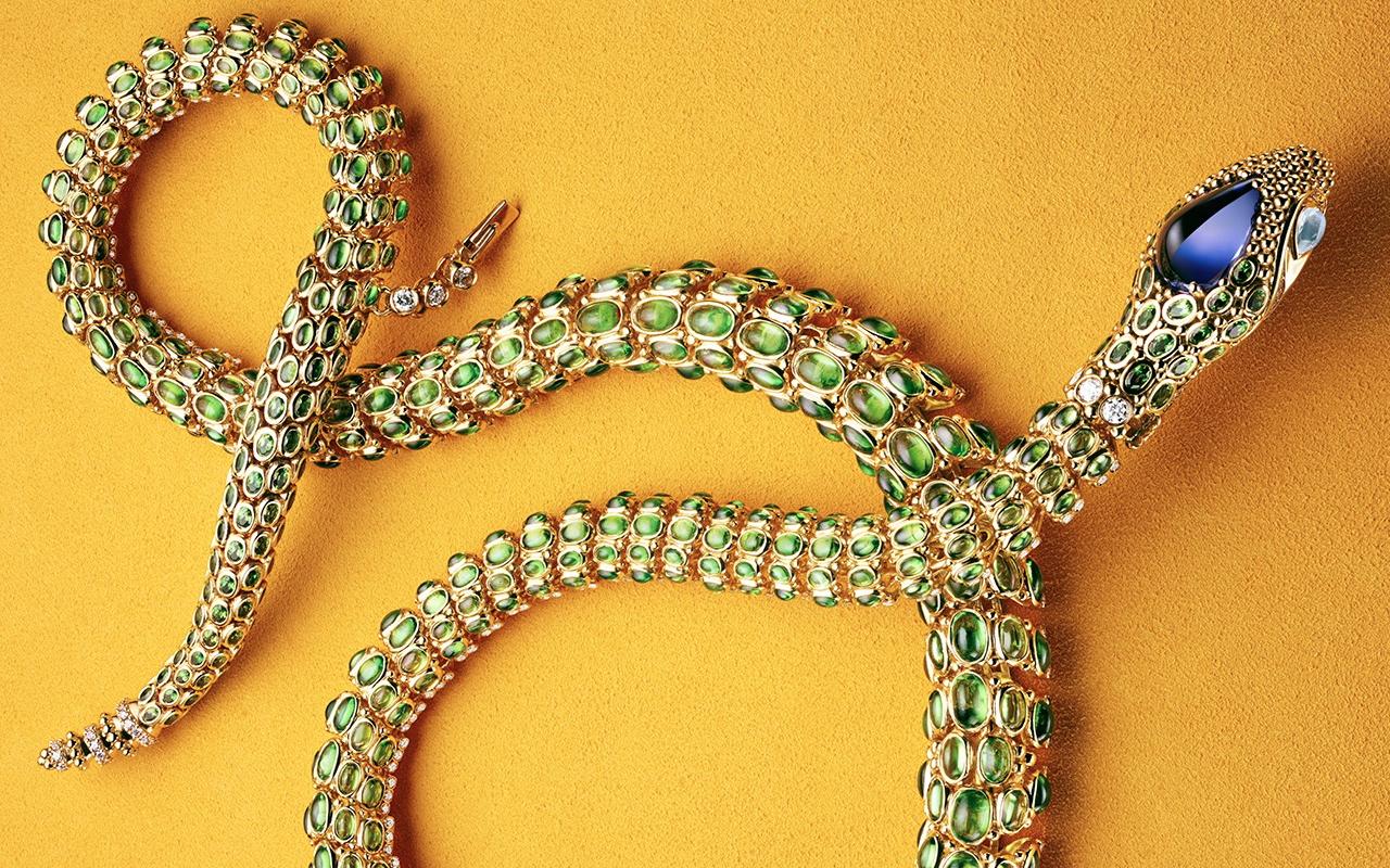 Temple St Clair Secret Garden Serpent necklace