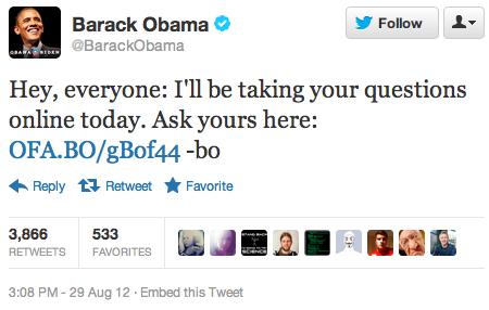 Obama Reddit tweet