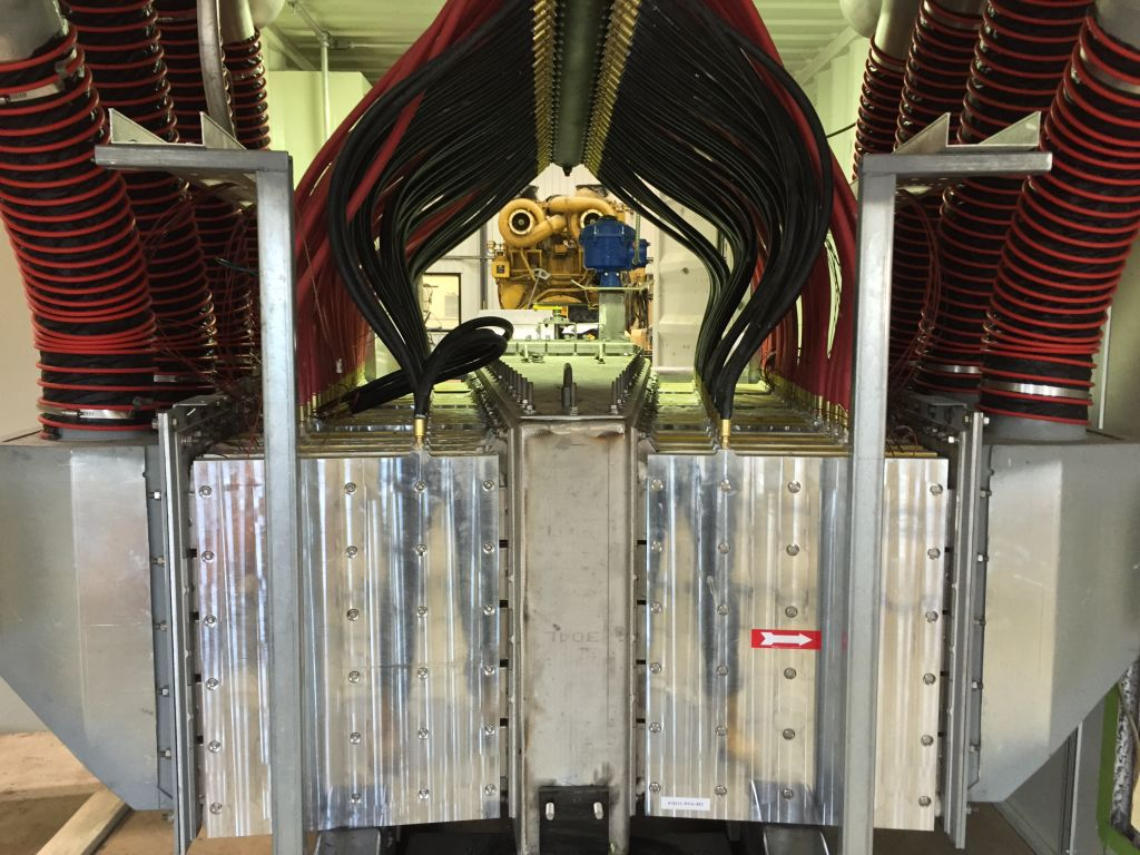 Alphabet Energy's power modules in its E1, a thermoelectric generator.