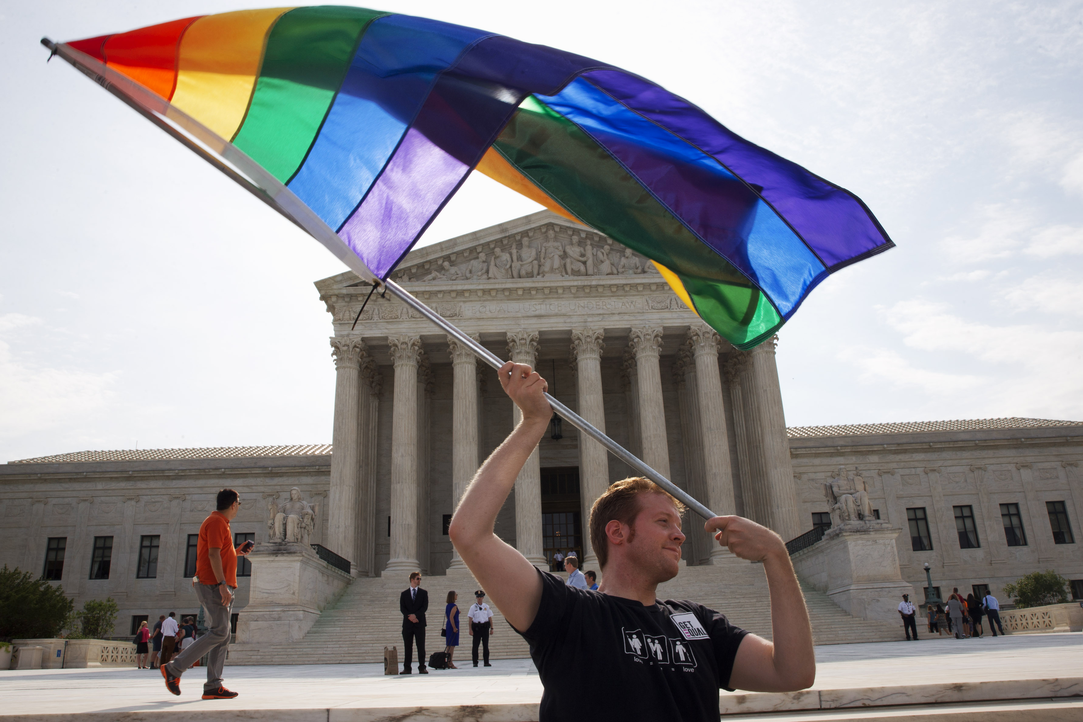 The U.S. Supreme Court legalizes same-sex marriage nationwide