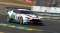 An Aston Martin GT12 takes a sharp curve at the 24 Hours of Le Mans on June 13, 2015.