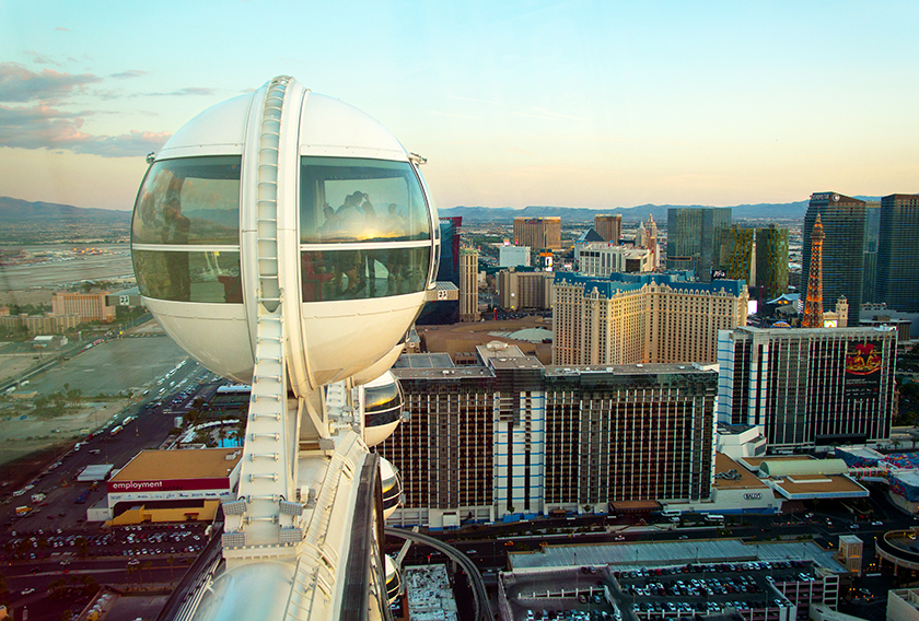 Ceasar's Palace Las Vegas. High Roller observation wheel