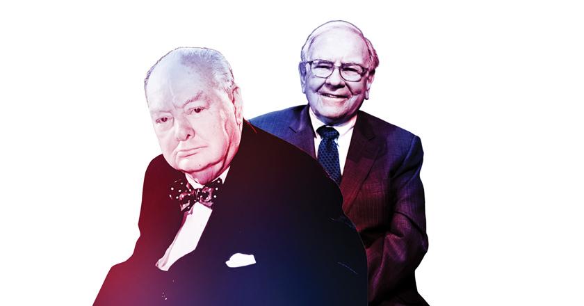 Winston Churchill (Left) and Warren Buffet (Right)