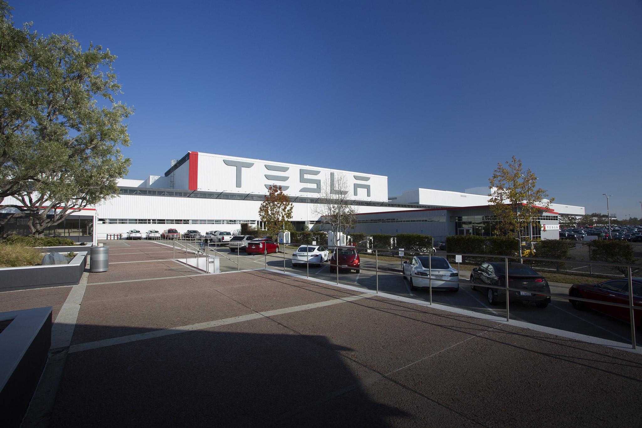 Tesla's factory in Fremont, Calif.