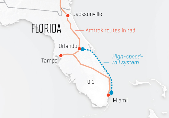 The sunshine state embraces high-speed rail
