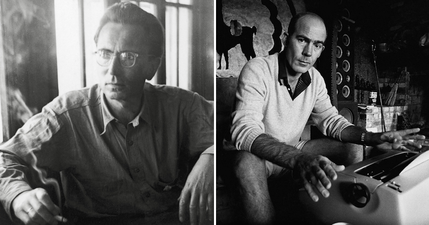 Viktor Frankl (left) and Hunter S. Thompson