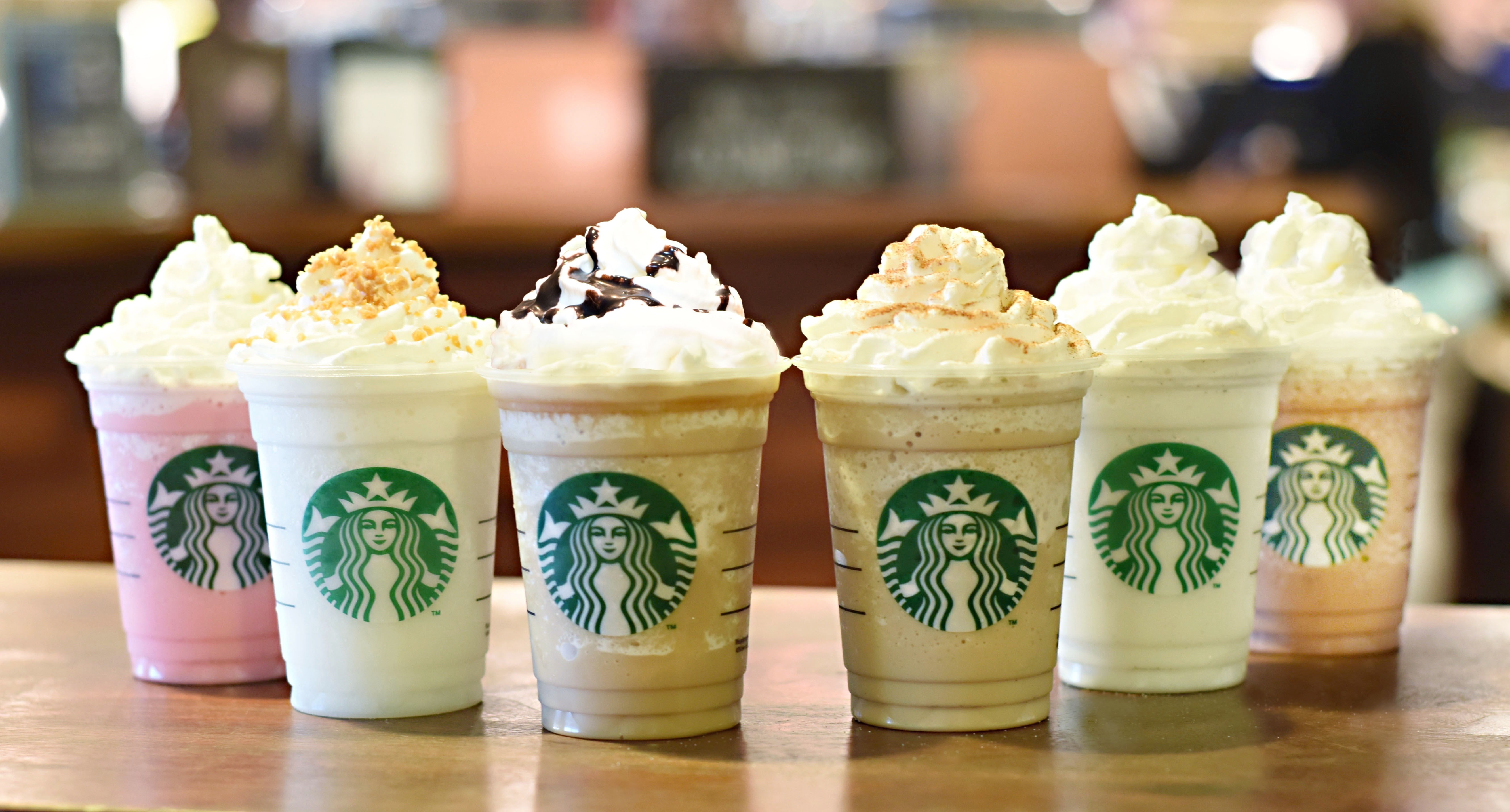 Starbucks is offering six new Frappuccino blended beverages to celebrate the drink's 20th anniversary.