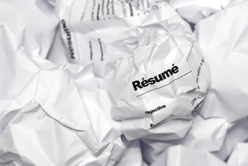 rejected job applications resumes