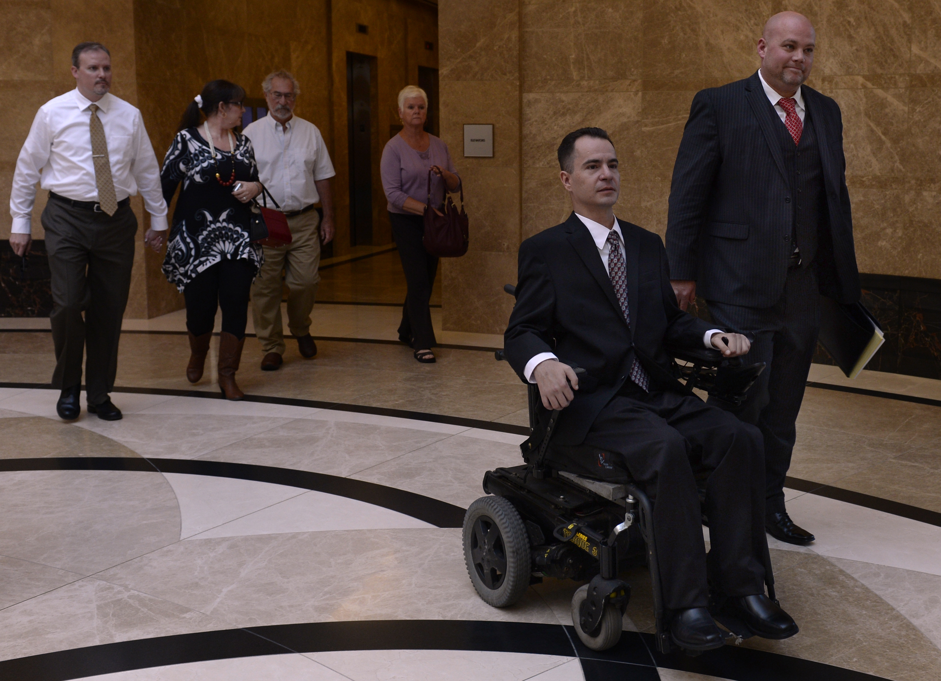 The Colorado Supreme Court listens to arguments in the the case of Brandon Coats, a quadriplegic medical marijuana patient who was fired from his job at Dish Network after testing positive for marijuana. A written decision by the court will be issued at a