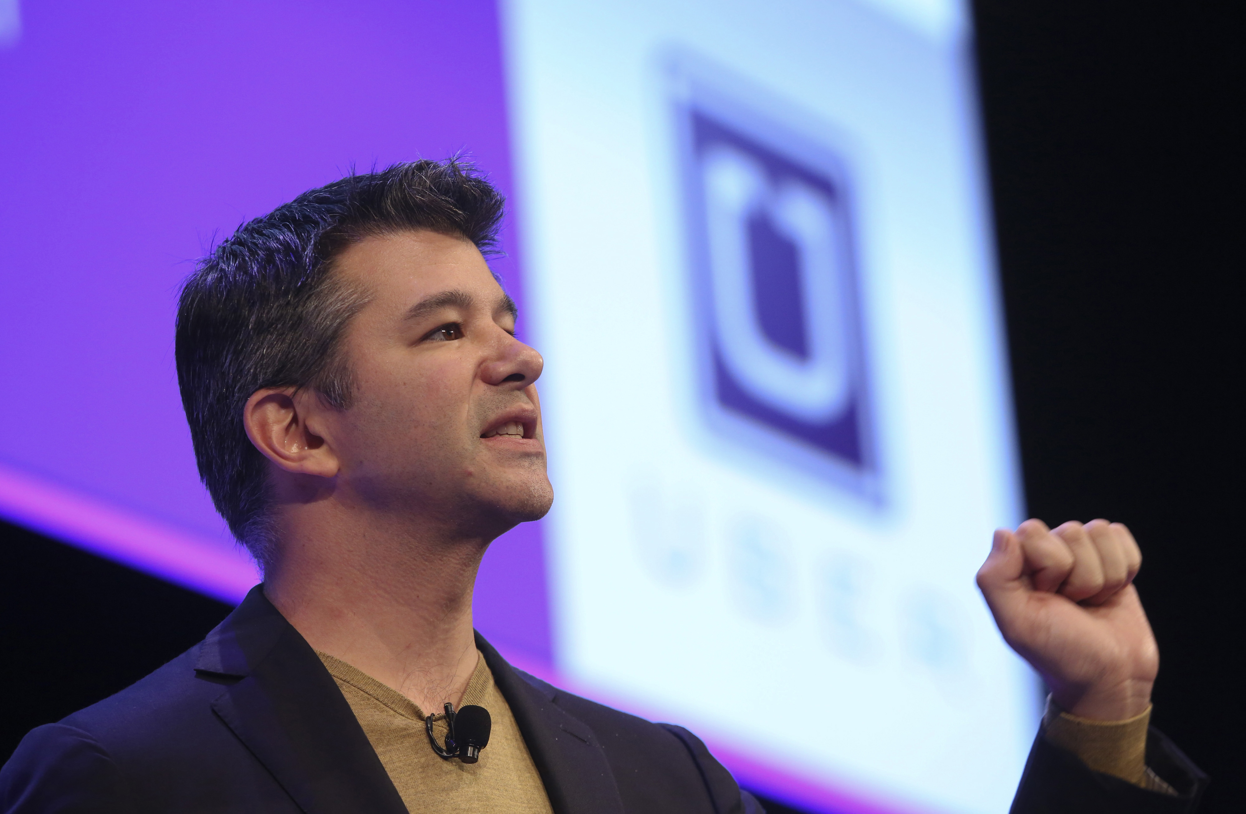Travis Kalanick, Uber's CEO, is a focus of protesters' anger.