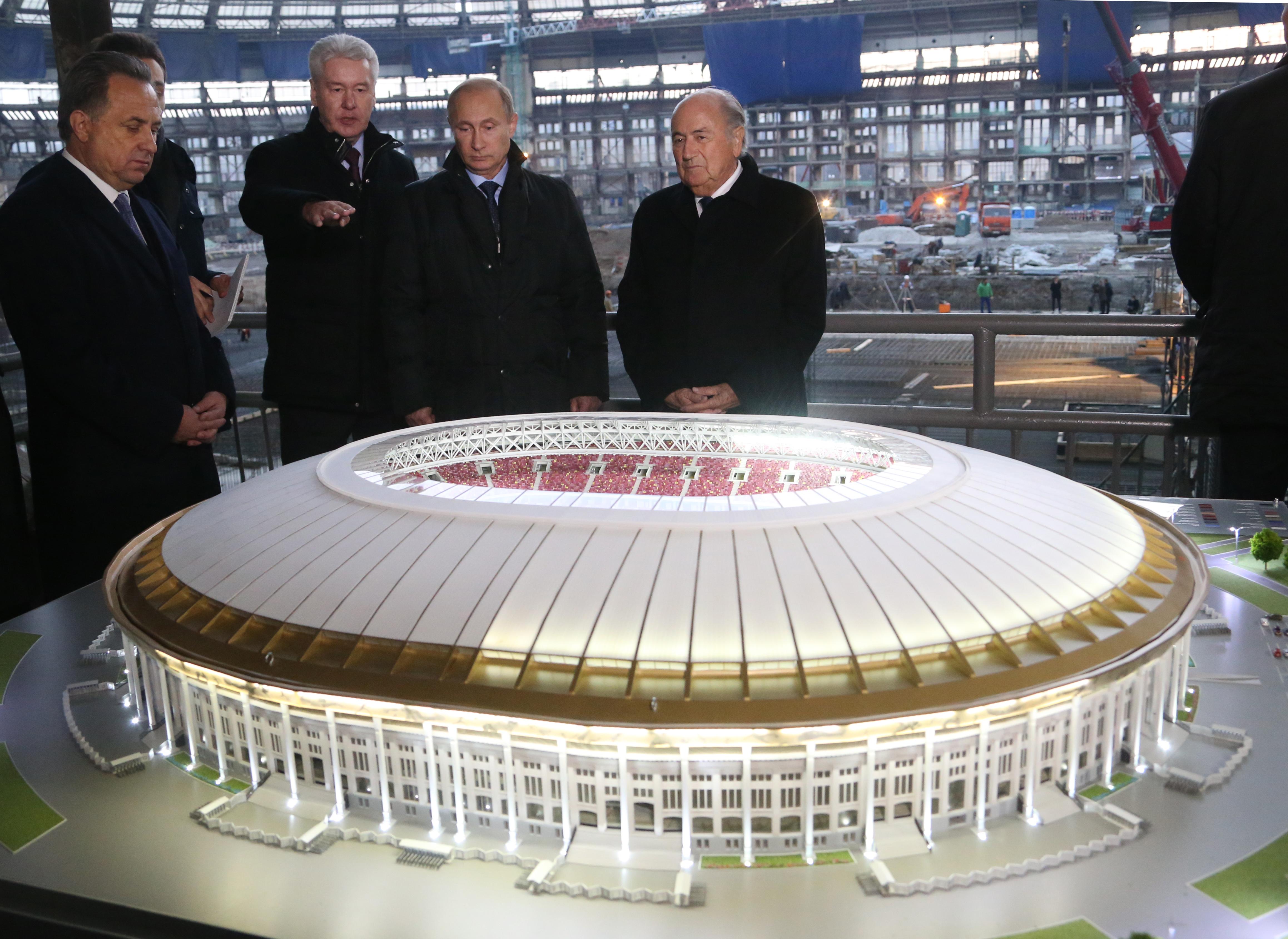 Russian President Vladimir Putin Visits Luzhniki Stadium
