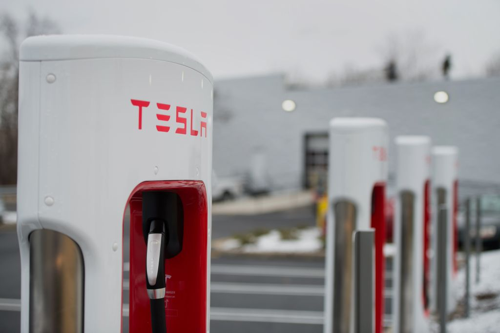 A Tesla Motors Inc. Gallery And Service Center As Stock Rebounds
