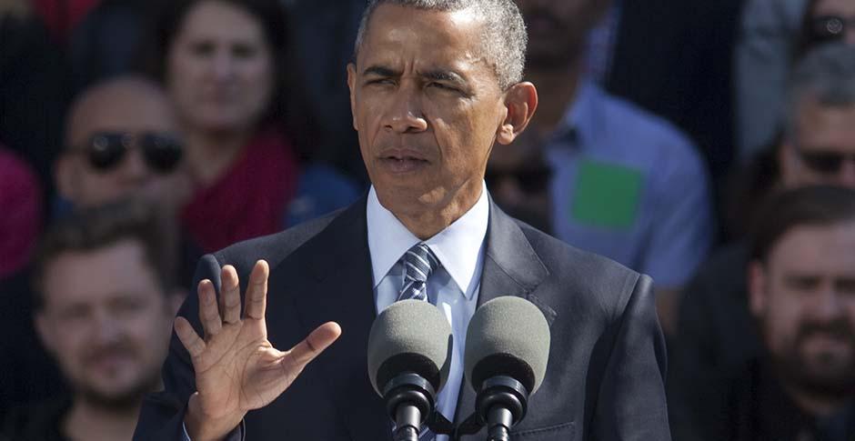 President Obama Speaks At Nike's Headquarters In Beaverton, Oregon