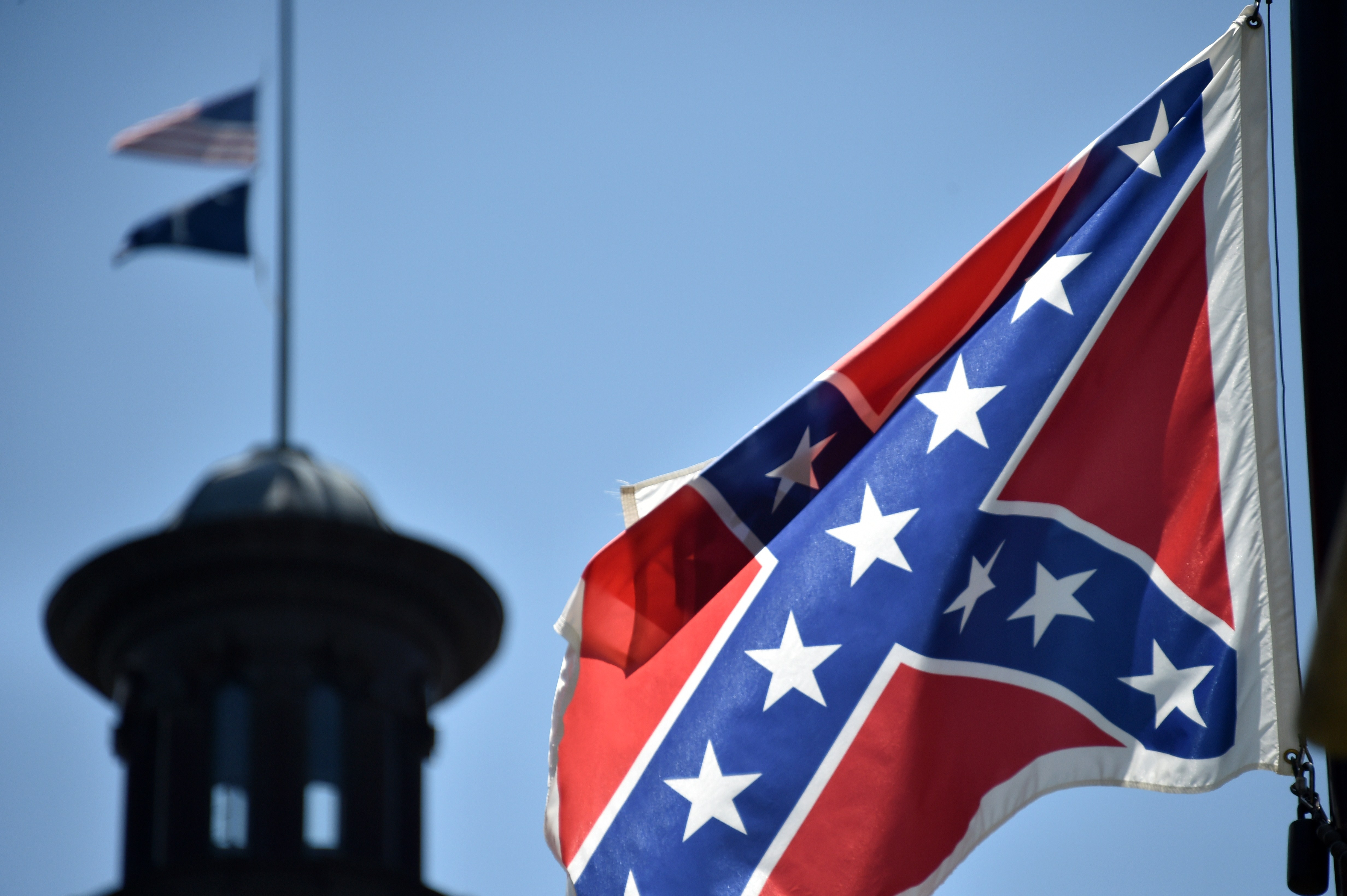 US-CRIME-SHOOTING-FLAG