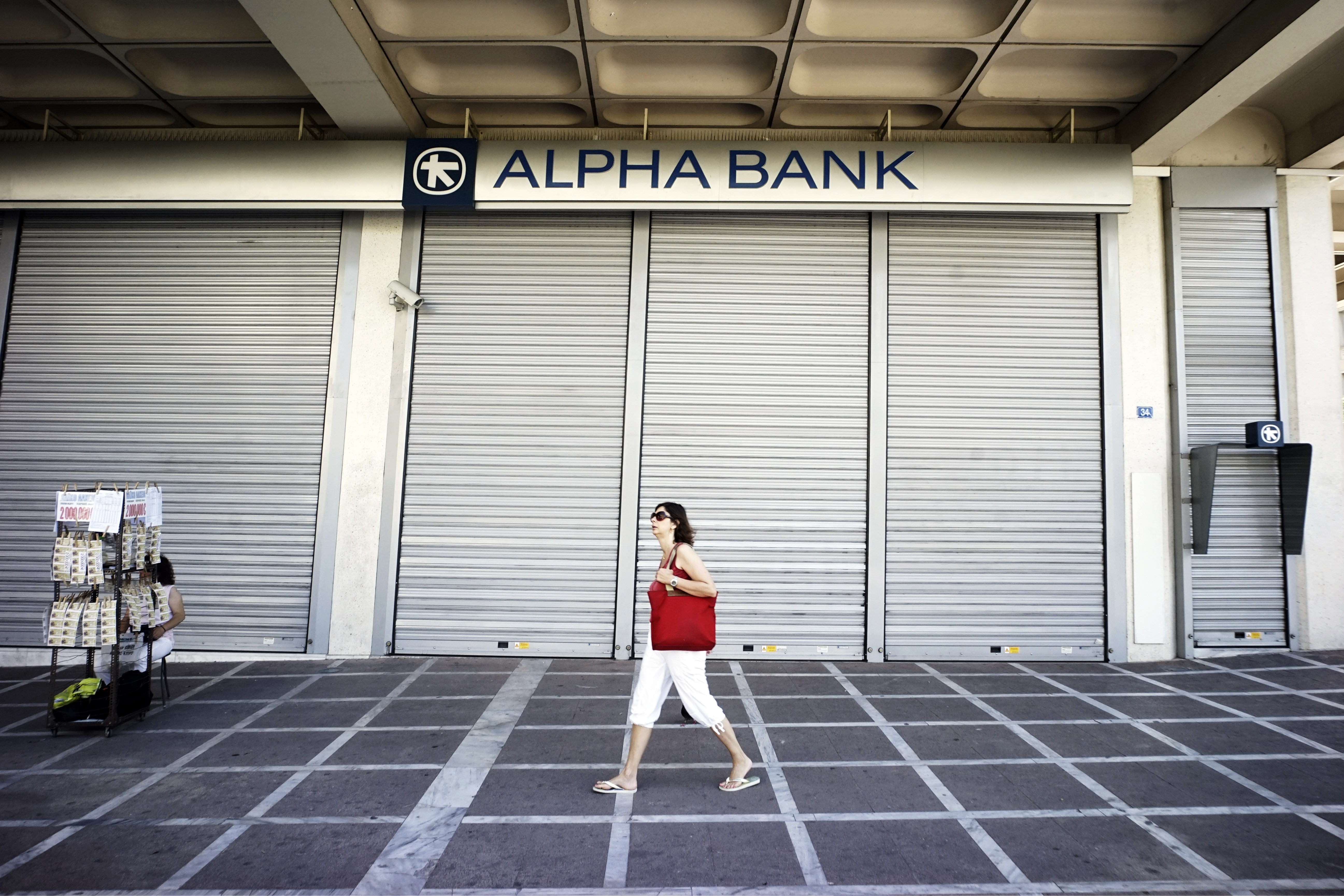 A deadly hush in Greece's financial sector means a lot of noise in markets elsewhere.