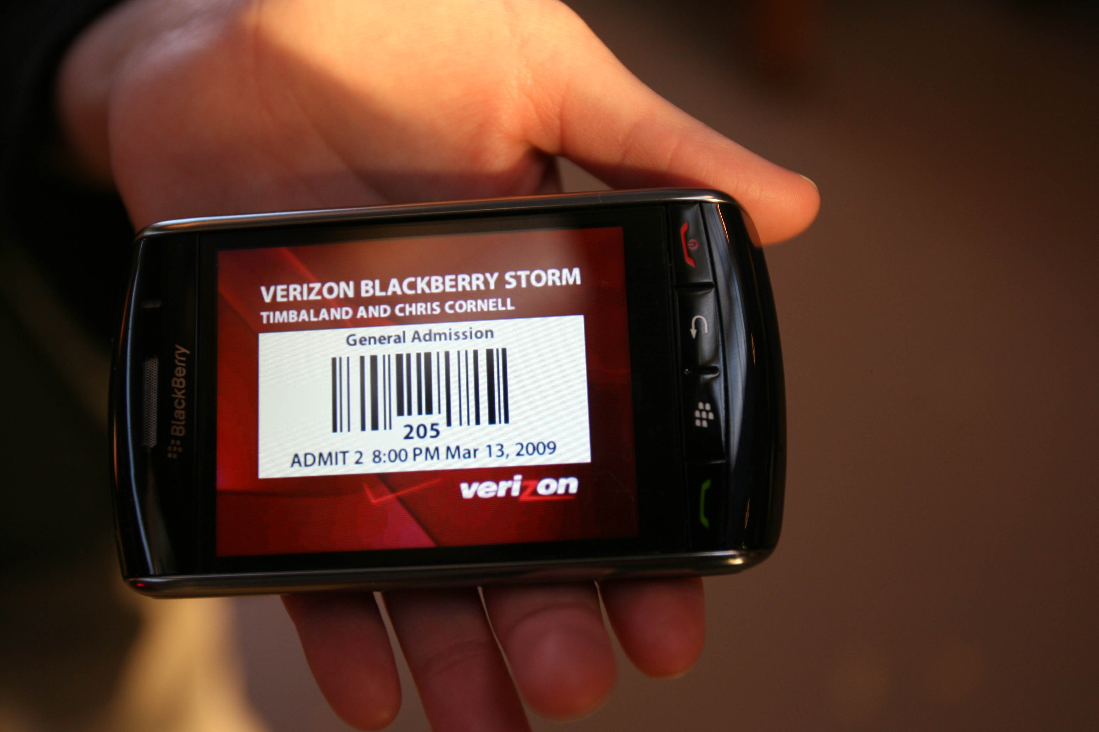 Verizon and BlackBerry  Storm Debut a Collaboration from Chris Cornell & Timbaland