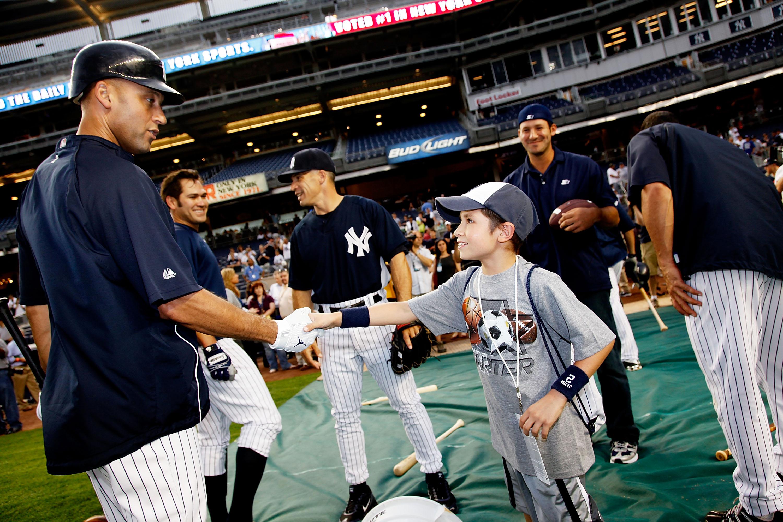 Tony Romo, Starter Spokesperson, Attends NY Yankees Batting Practice