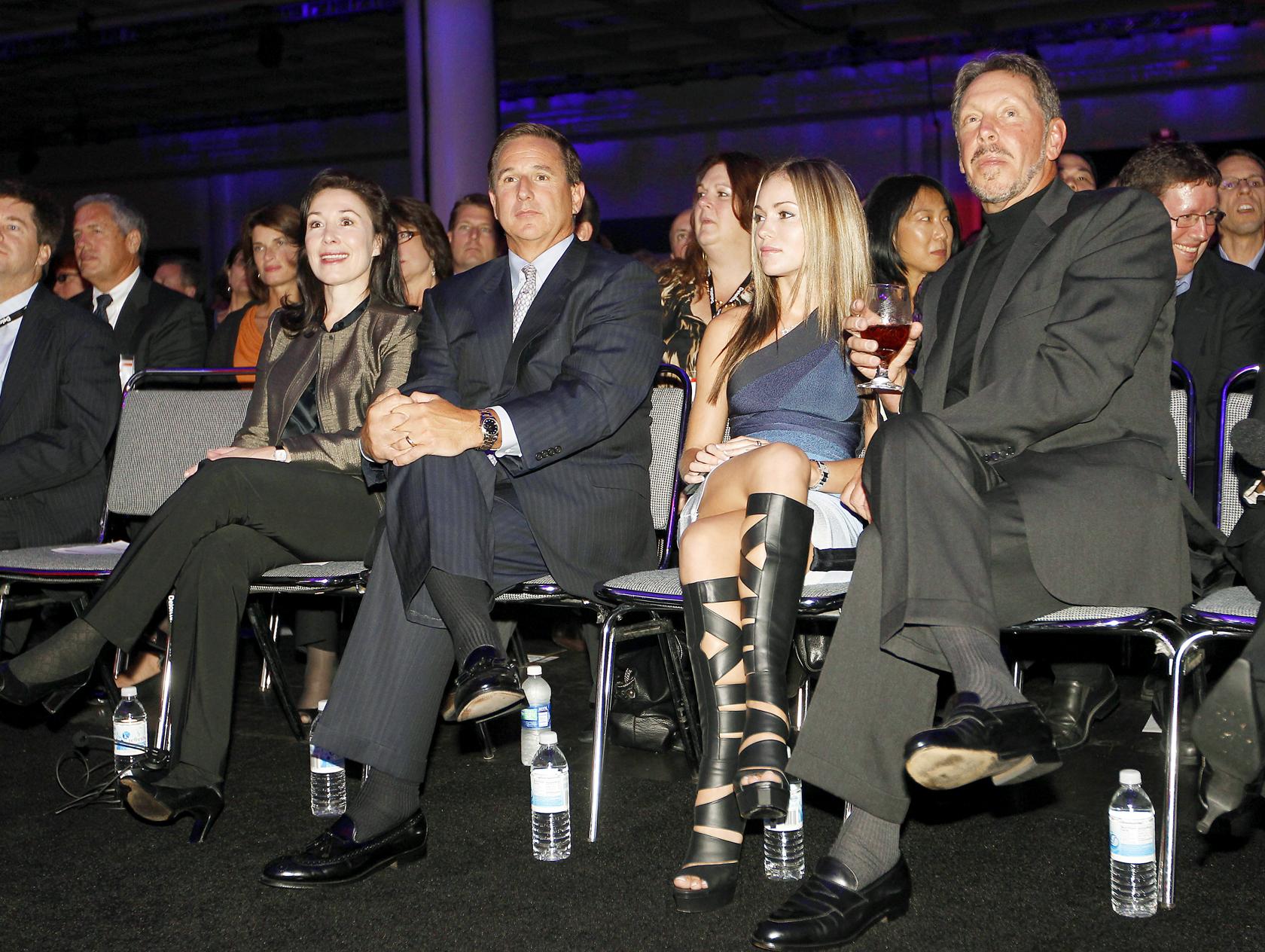 Mark Hurd, Safra Catz, Larry Ellison, Oracle