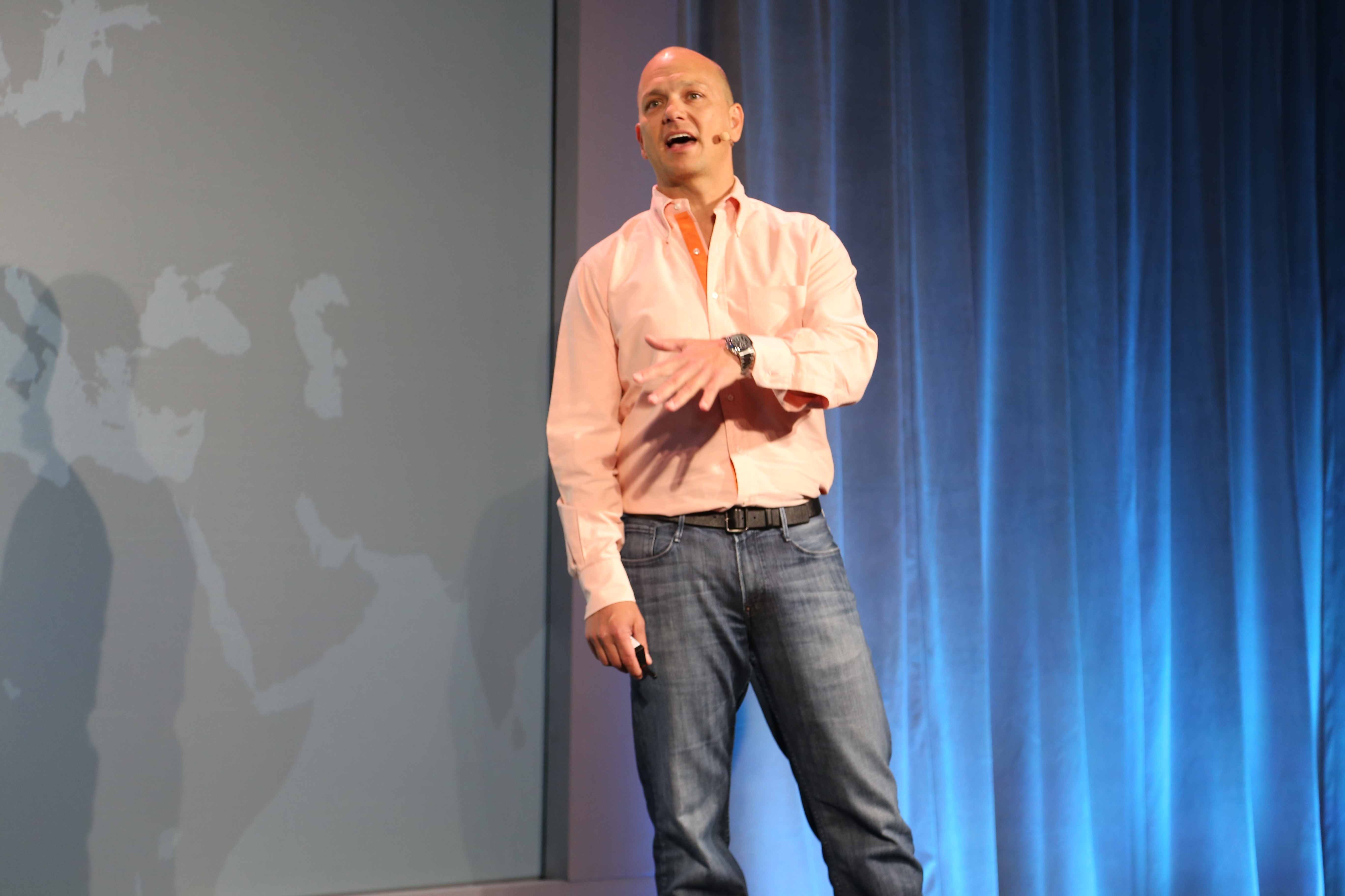Nest co-founder CEO Tony Fadell at Nest's press conference.